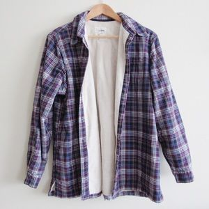 L.L. Bean Fleece Lined Button Down Shirt